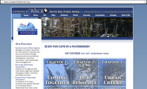 A screenshot of www.OurWatershedStories.org